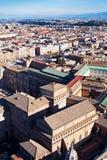 Vogelsmening over centrum van de stad van Rome Royalty-vrije Stock Afbeeldingen
