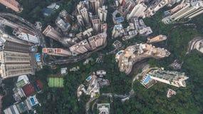 Vogelsoog van Hong Kong royalty-vrije stock afbeelding