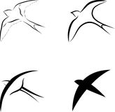 Vogelsymbole Lizenzfreies Stockfoto