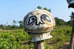 Vogelverschrikkerachtergrond royalty-vrije stock afbeeldingen