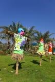 Vogelverschrikkers bij een Festival van de Daling. stock fotografie