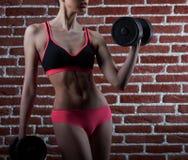 Voglia al colpo potato allenamento di una donna di forma fisica Fotografia Stock