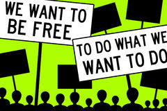 Voglia essere libero Immagini Stock Libere da Diritti