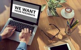 Vogliamo il vostro concetto di risposte Immagini Stock Libere da Diritti
