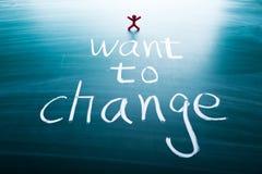 Voglio cambiare Immagine Stock Libera da Diritti