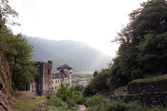 Vogogna Castle, piedmont, Italy Stock Images