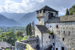 Vogogna (Ossola Valley, Piedmont): the Visconti castle. Color image Royalty Free Stock Photos
