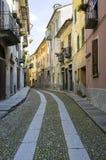 Vogogna (valle di Ossola, Piemonte): vecchio vicolo Immagine di colore Fotografia Stock Libera da Diritti
