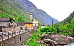 Vogorno, swiss village Royalty Free Stock Photos