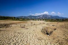 Озеро Vogrscek Droughted стоковые изображения rf