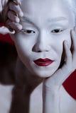 Vogue-Art-helles Make-upmann-Porträt Zauber-Fetisch-Mannesgalan stockbilder