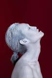 Vogue-Art-helles Make-upmann-Porträt Zauber-Fetisch-Mannesgalan lizenzfreies stockfoto
