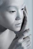 Vogue-Art-helles Make-upmann-Porträt Zauber-Fetisch-Mannesgalan stockfotos