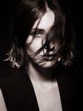 Vogue-Artfoto der sinnlichen Frau Lizenzfreies Stockfoto