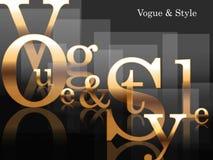 Vogue e estilo ilustração do vetor