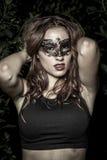 Vogue.Girl.Veni ce karnawału maski zakończenia kobieta portrait.in dla zdjęcie royalty free