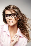 Vogue glasses Royalty Free Stock Images