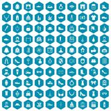 100 vogue icons sapphirine violet. 100 vogue icons set in sapphirine hexagon isolated vector illustration vector illustration