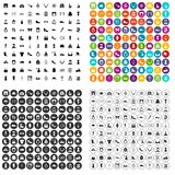 100 vogue icons set vector variant. 100 vogue icons set vector in 4 variant for any web design isolated on white Stock Photos