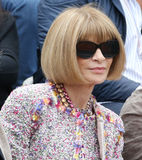 Vogue magazine editor-in-chief Anna Wintour at the Roland Garros 2015. PARIS, FRANCE- MAY 28, 2015: Vogue magazine editor-in-chief Anna Wintour at the Roland Royalty Free Stock Photos