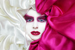 Vogue make up in white and pink Stock Image