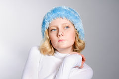 Vogue portrait of a beautiful preteen girl Stock Photo