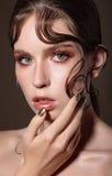 Vogue-stijlfoto Royalty-vrije Stock Afbeeldingen