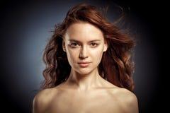 Vogue-stijlfoto van sensuele vrouw Royalty-vrije Stock Foto