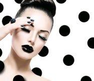 Vogue stilmodell Girl royaltyfri bild