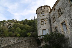 Vogue village in the Ardeche river Stock Photos