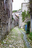 Vogue village in the Ardeche river Royalty Free Stock Photo