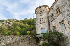 Vogue village in the Ardeche river Royalty Free Stock Image