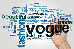 Vogue word cloud. Concept on grey background Stock Photos
