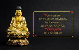 , Voi stessi, tanto quanto qualcuno nell'intero universo, meritate il vostri amore ed affetto illustrazione di stock