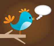 Voice of a bird Stock Image