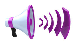 Voice broadcasting. Megaphone or loudspeaker Royalty Free Stock Image