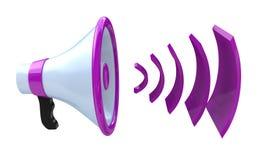 Voice broadcasting. Megaphone or loudspeaker Royalty Free Stock Image