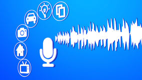 Voice control assistance microphone activating devices Royalty Free Stock Images