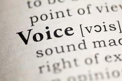 Voice Stock Image