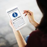Voice Mail Message Notification Communication Concept Royalty Free Stock Images