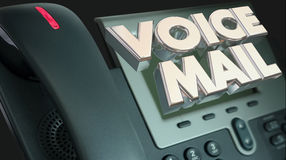Voice Mail Phone Message Out of Office Words Stock Photos