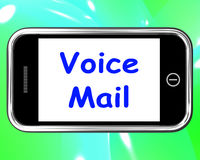 Voice Mail On Phone Shows Talk To Leave Message Royalty Free Stock Photography