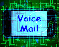 Voice Mail On Phone Shows Talk To Leave Messages Stock Photography