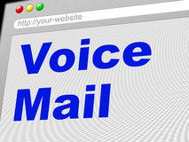 Voice Mail Represents Message System And Communicate Stock Photography