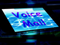 Voice Mail On Screen Shows Talk To Leave Message Royalty Free Stock Photo
