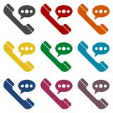 Voice message icons set. Vector icon Stock Photography