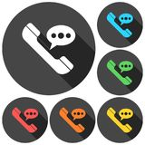 Voice message icons set. Vector icon Stock Images