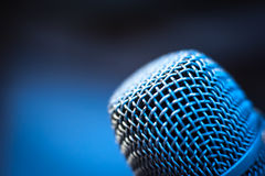 Voice microphone head macro detail Royalty Free Stock Images