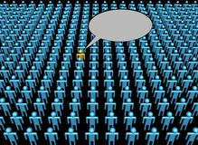 Voice of one person in crowd Stock Images