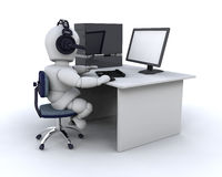 Voice over the internet Stock Image